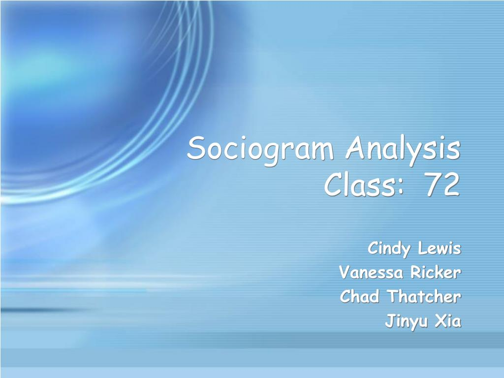 sociogram analysis class 72 l.