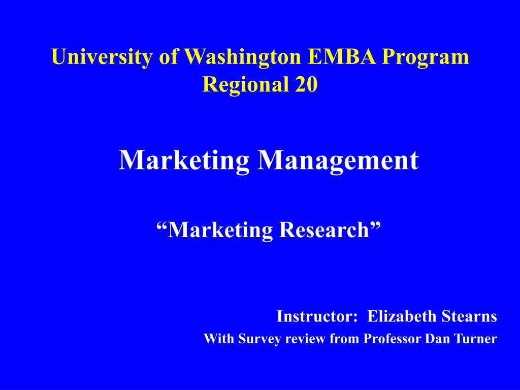 university of washington emba program regional 20 l.