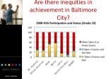 are there inequities in achievement in baltimore city16