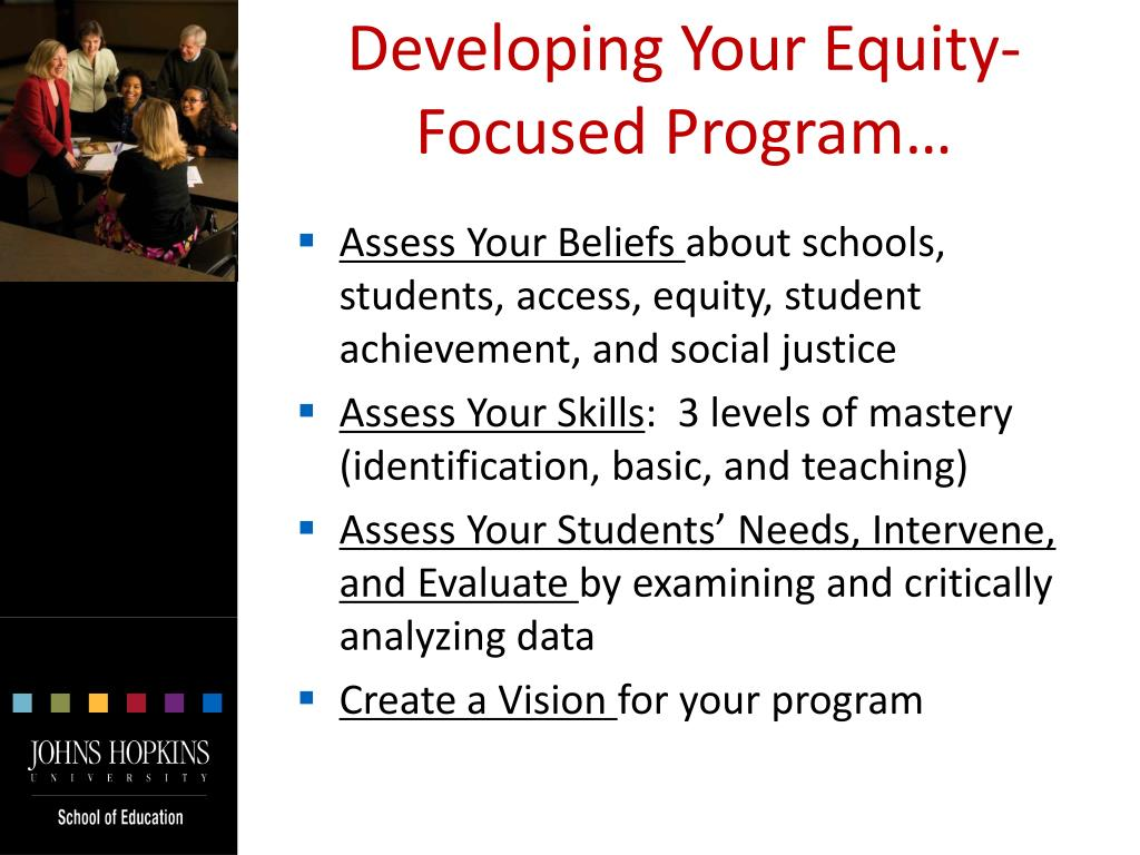 Developing Your Equity-Focused Program…