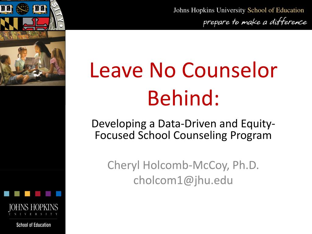leave no counselor behind l.