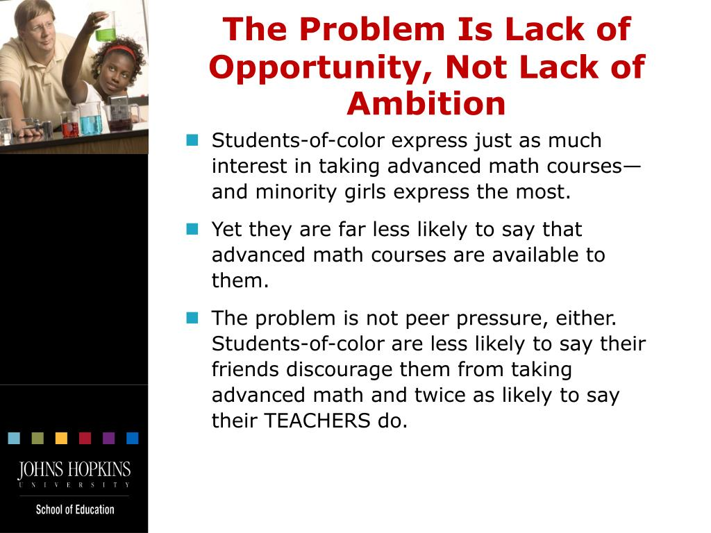 The Problem Is Lack of Opportunity, Not Lack of Ambition