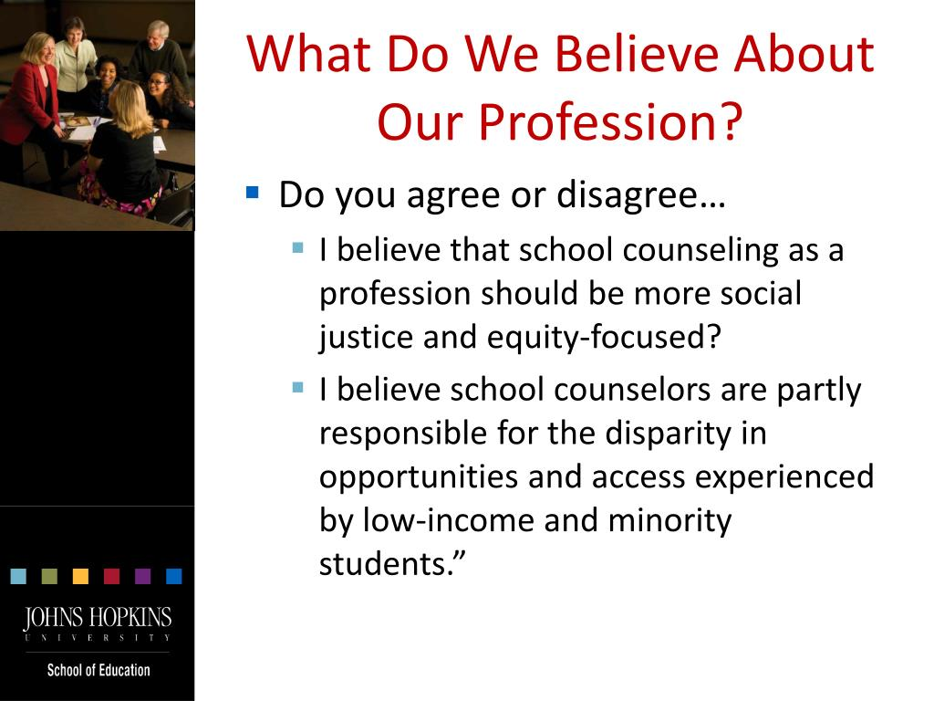 What Do We Believe About Our Profession?