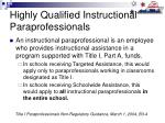 highly qualified instructional paraprofessionals24