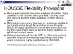 housse flexibility provisions