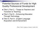 potential sources of funds for high quality professional development21