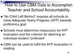 how to use cbm data to accomplish teacher and school accountability