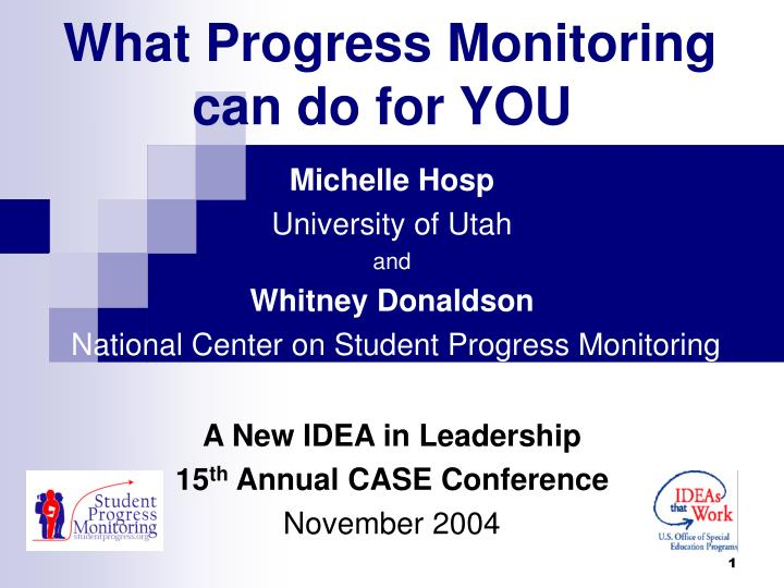 what progress monitoring can do for you n.