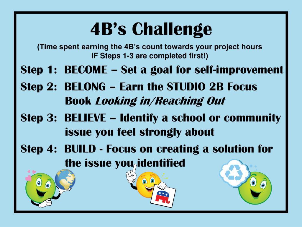 4B's Challenge