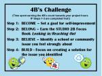 4b s challenge