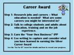 career award