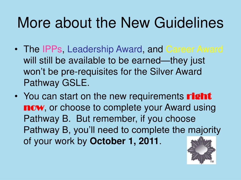 More about the New Guidelines