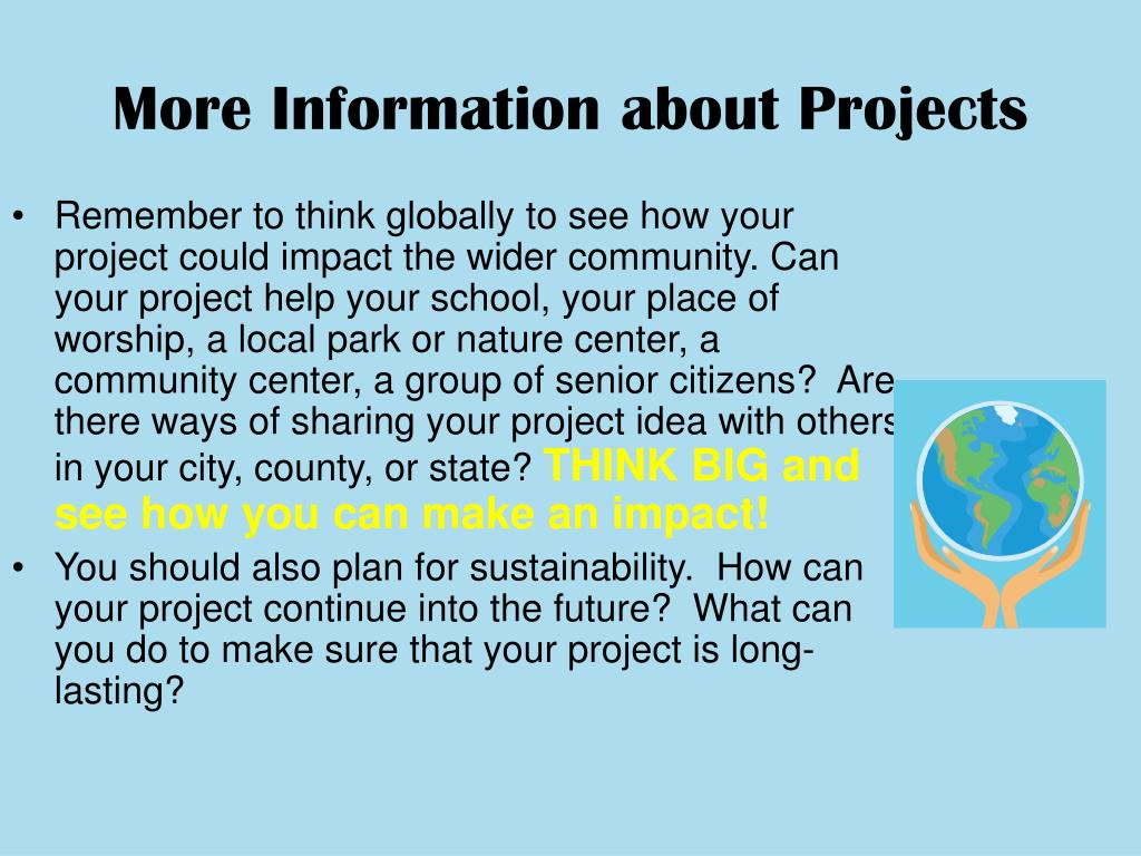 More Information about Projects
