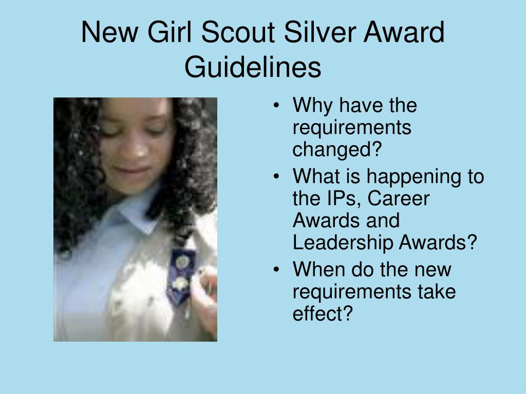 New Girl Scout Silver Award Guidelines