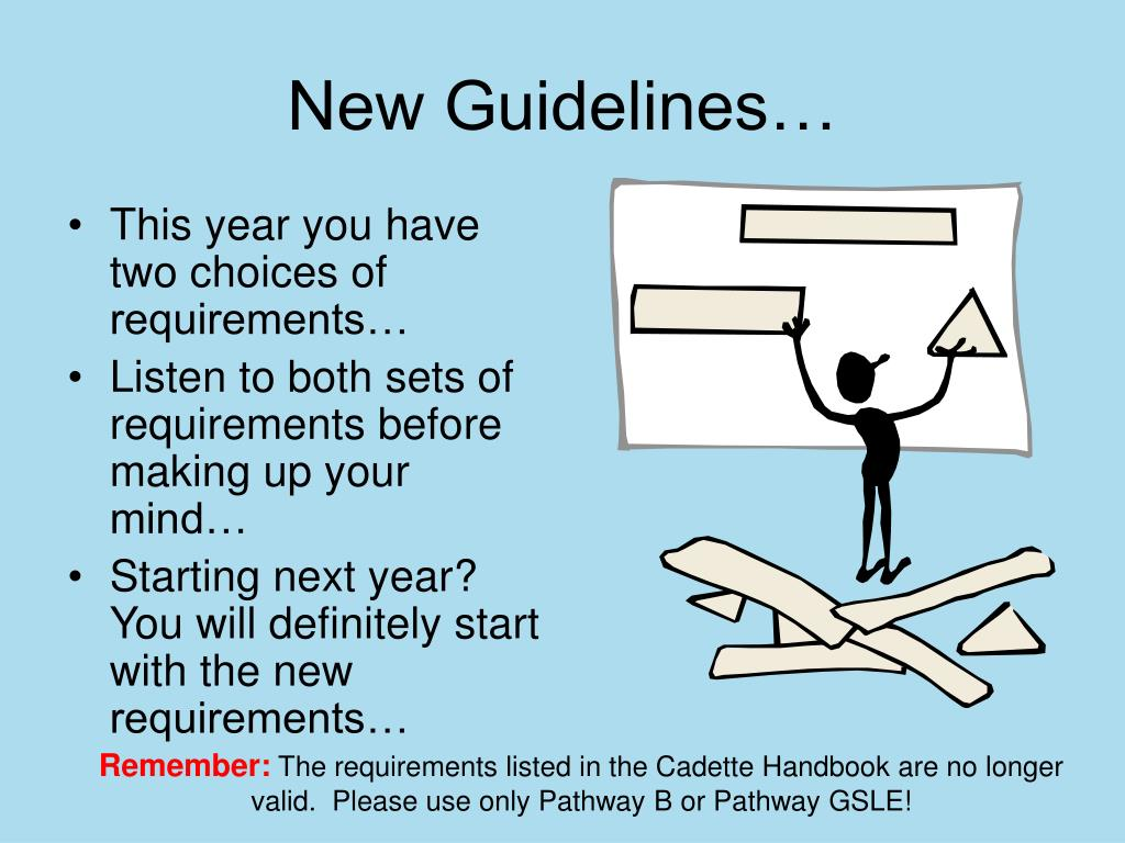 New Guidelines…