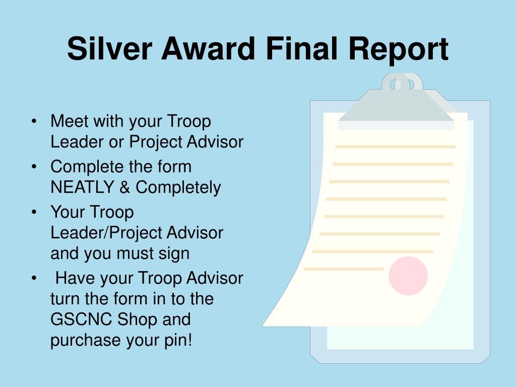 Silver Award Final Report