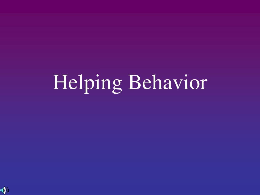 helping behavior l.