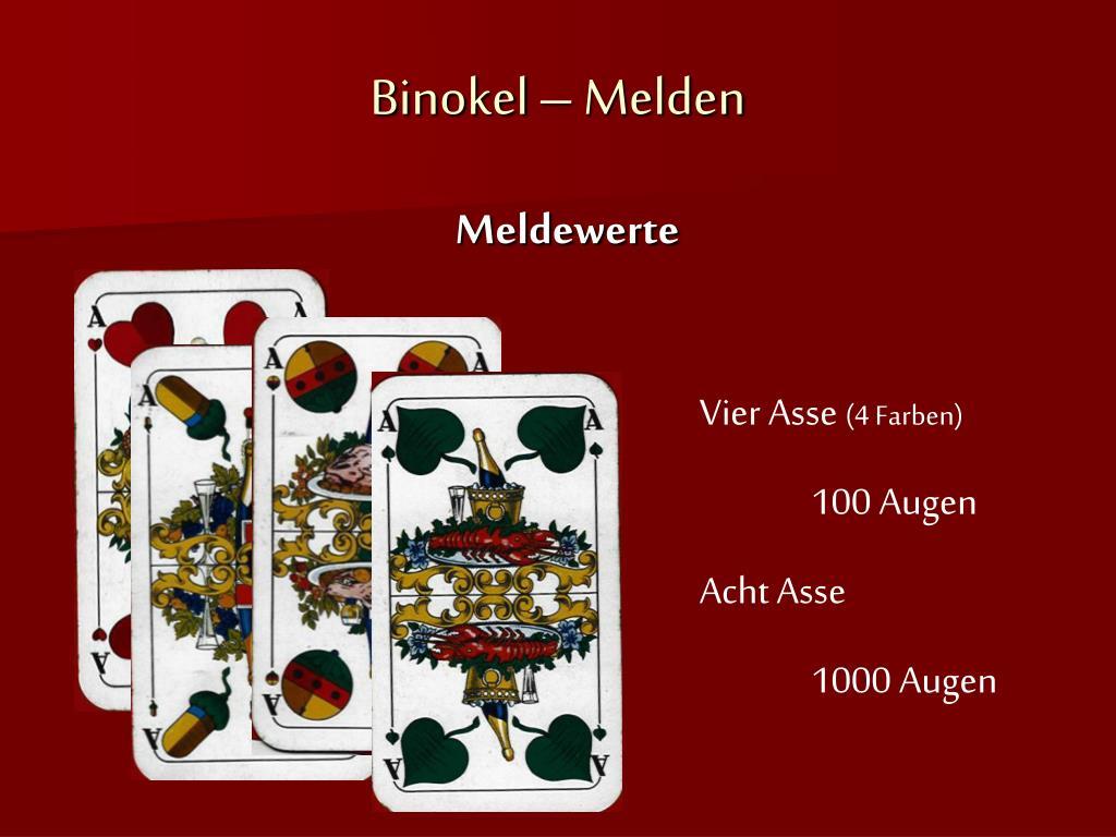 Binokel Melden