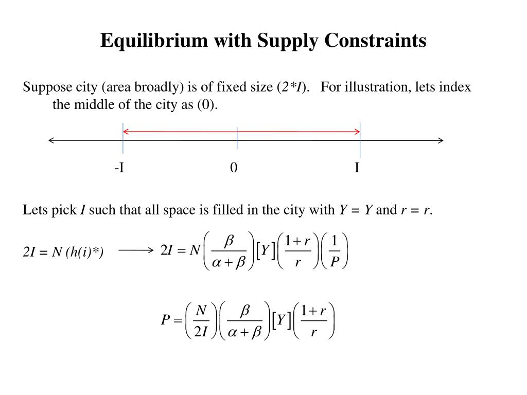 Equilibrium with Supply Constraints