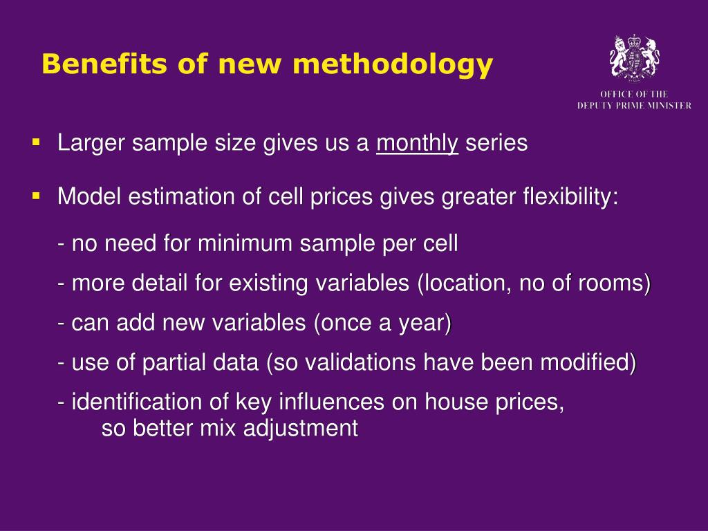 Benefits of new methodology
