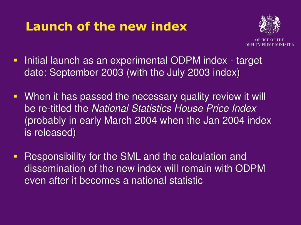 Launch of the new index