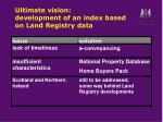 ultimate vision development of an index based on land registry data