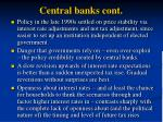 central banks cont