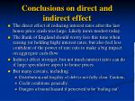conclusions on direct and indirect effect
