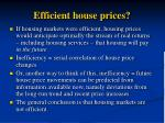 efficient house prices
