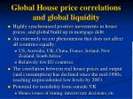 global house price correlations and global liquidity