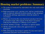 housing market problems summary