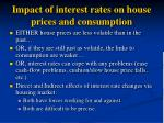 impact of interest rates on house prices and consumption
