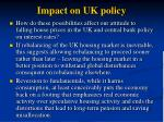 impact on uk policy