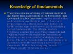 knowledge of fundamentals