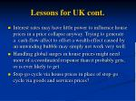 lessons for uk cont