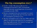 the big consumption story