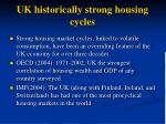 uk historically strong housing cycles
