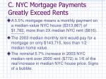 c nyc mortgage payments greatly exceed rents