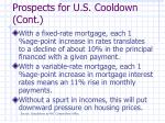 prospects for u s cooldown cont