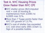 test a nyc housing prices grew faster than nyc cpi