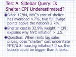 test a sidebar query is shelter cpi underestimated