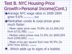 test b nyc housing price growth personal income cont