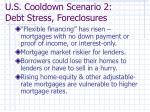 u s cooldown scenario 2 debt stress foreclosures