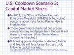 u s cooldown scenario 3 capital market stress