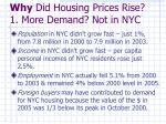 why did housing prices rise 1 more demand not in nyc