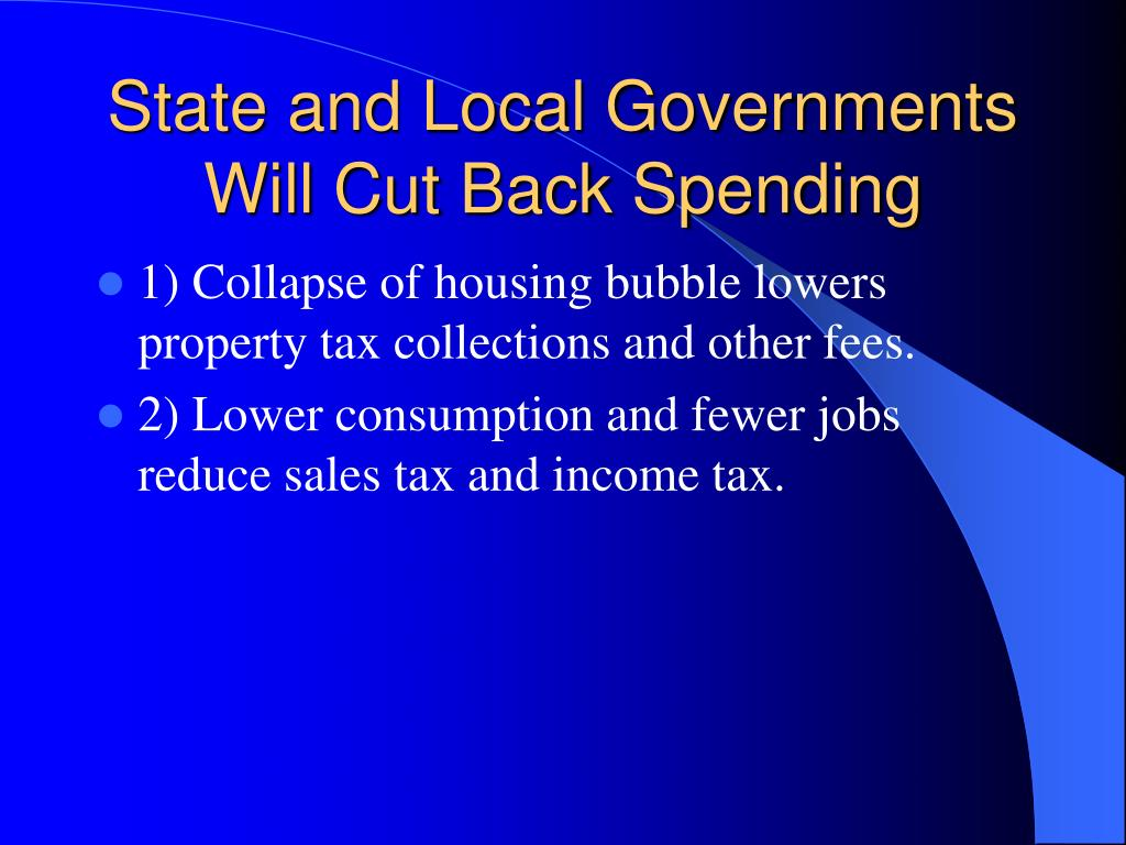 State and Local Governments Will Cut Back Spending