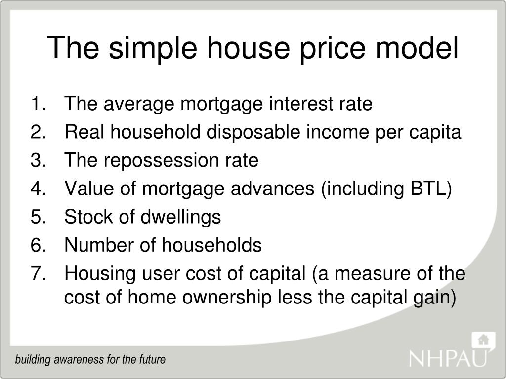 The simple house price model