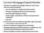 current mortgage capital market