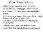 major financial risks