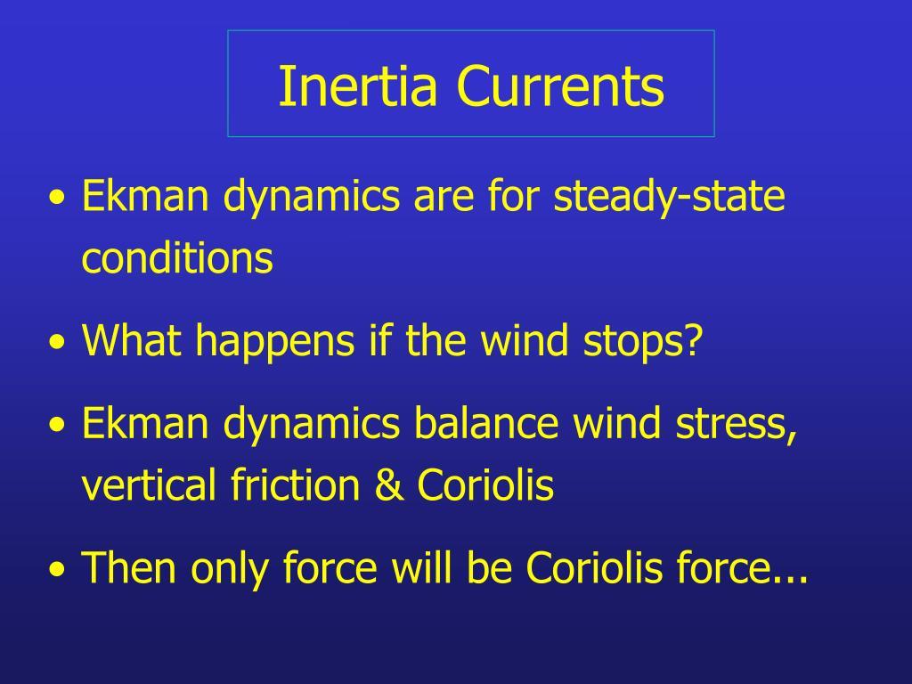 Inertia Currents